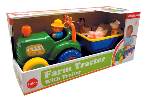Kiddieland Farm Animal Tractor & Trailer