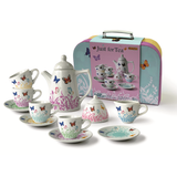 Butterfly Porcelain Tea Set in Carry Case