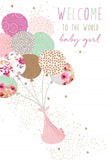 Pictura Baby Girl Congratulations Card