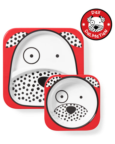 Skiphop Zoo Melamine Plate & Bowl Set