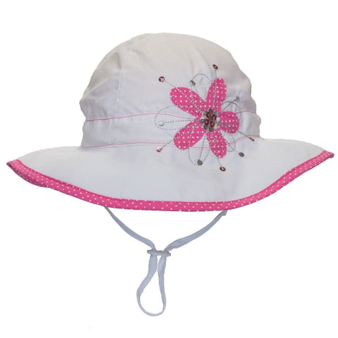 Calikids Ultimate Beach Sun Protection Hat - White