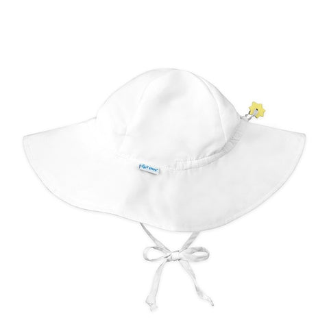 iPlay Solid Brim Sun Protection Hat - White
