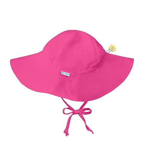 iPlay Solid Brim Sun Protection Hat - Hot Pink