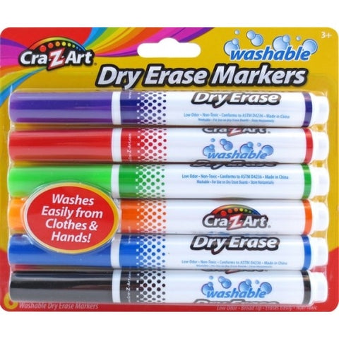 Cra-Z-Art KIds Washable Broadline Dry Erase Markers