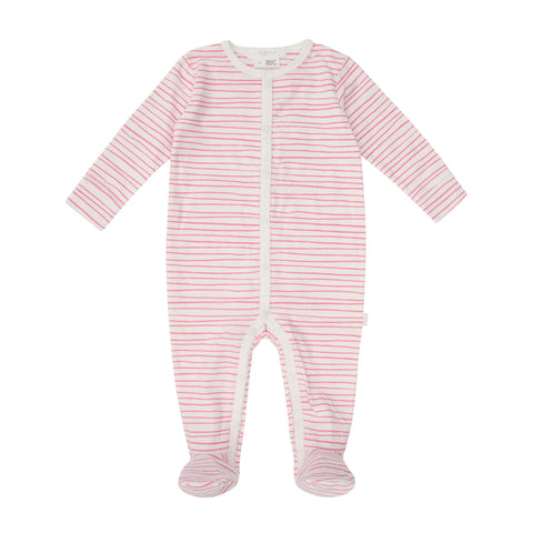 Petit Lem Whale Girl Baby Sleeper Knit - Off White