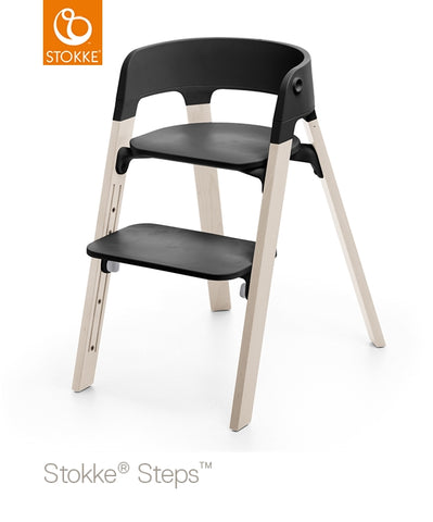 Stokke Steps Chair Complete with Black Seat