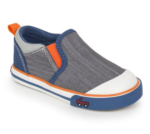 See Kai Run Toddler Shoes Slater - Gray/Blue