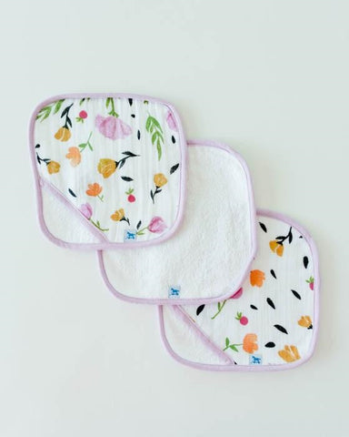 Little Unicorn Cotton Wash Cloth 3-pack