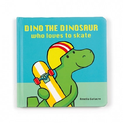 Book by Jellycat - Dino the Dinosaur Who Loves to Skate