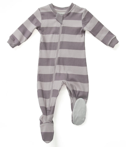 Zippy Jamz Footed Sleeper - Sweet in Stripes Purple