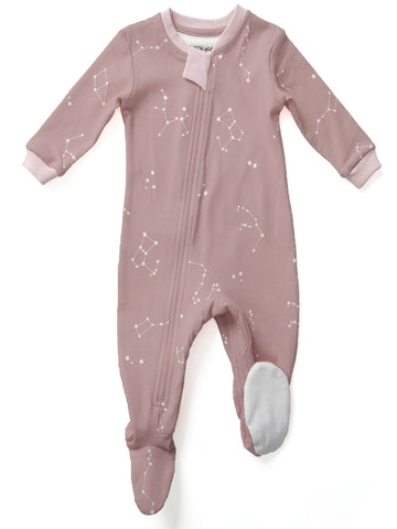 Zippy Jamz Footed Sleeper - Galaxie Love Pink