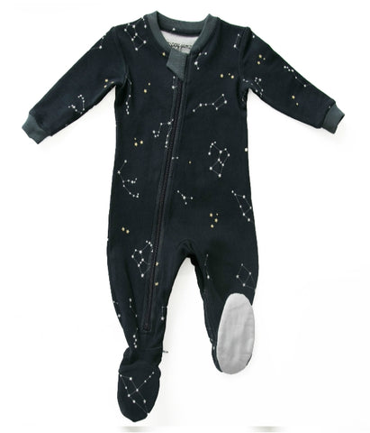 Zippy Jamz Footed Sleeper - Galaxie Love Navy