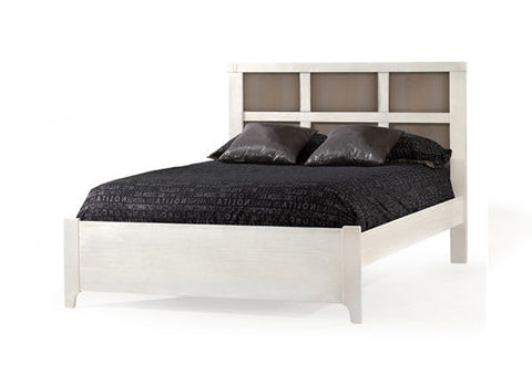Natart Rustico Moderno Double Bed 54 in. (with low profile footboard and rails)