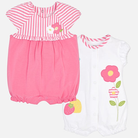 Mayoral 2 Short Romper (Set of 2) - 1.712, Sirope