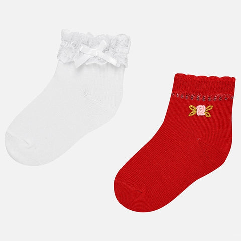 Mayoral 2 Socks Set - 10.530, Red