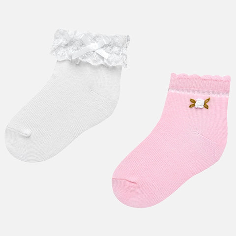 Mayoral 2 Socks Set - 10.530, Rose