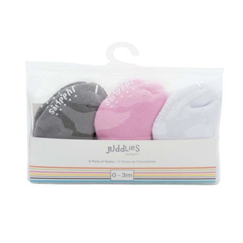 Juddlies Multi Pack Infant Socks (6pk)