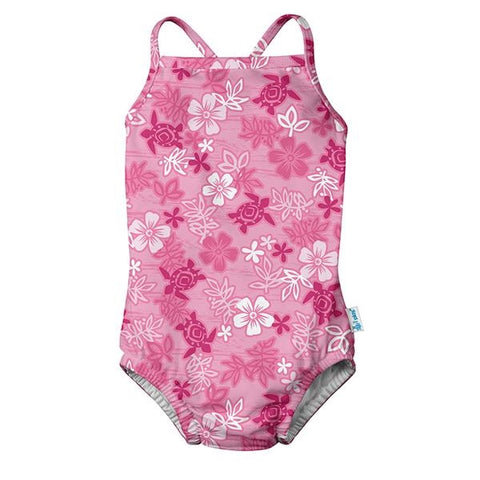 iPlay Classic Swimsuit w/ Swim Diaper - Pink Hawaiian