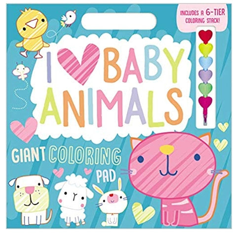 Make Believe I Love Baby Animals Giant Coloring Pad