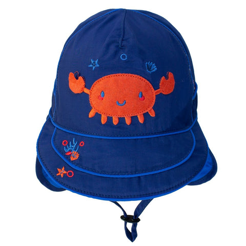Calikids Boys Quick Dry Ball Hat - Navy Peony