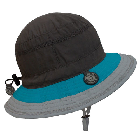 Calikids Boys Quick Dry Hat - Granite Combo