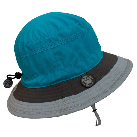 Calikids Boys Quick Dry Hat - Turquoise Combo