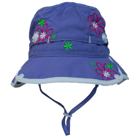 Calikids Girls Quick Dry Hat - Purple Jewel