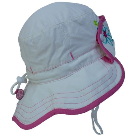 Calikids Girls Quick Dry Hat - White