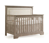 Natart Ithaca 5-in-1 Convertible Crib with Upholstered Talc Panel