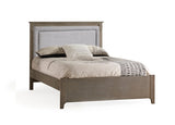 Natart Ithaca Double Bed 54 in. (with low profile footboard, rails, and upholstered Fog panel)