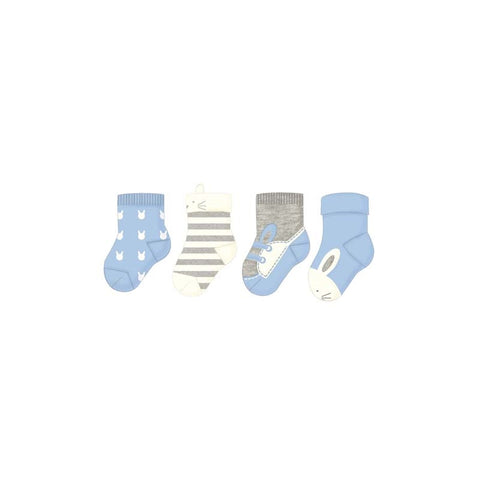 Mayoral 4pc Sock Set - Powder Blue (9171)