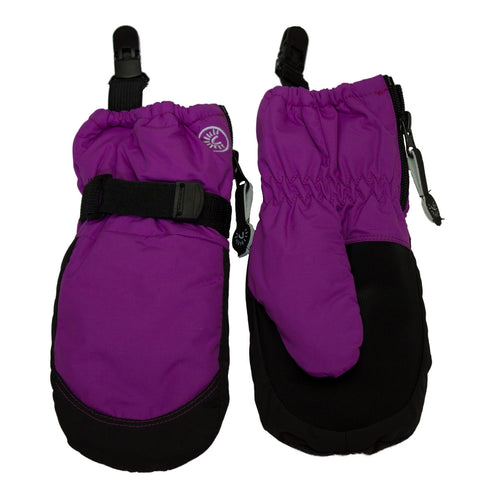Calikids Waterproof Mitten with Clip - Violet Cactus