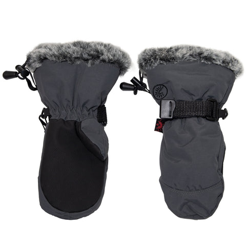 Calikids Waterproof Nylon Avaitor Mitten - Charcoal
