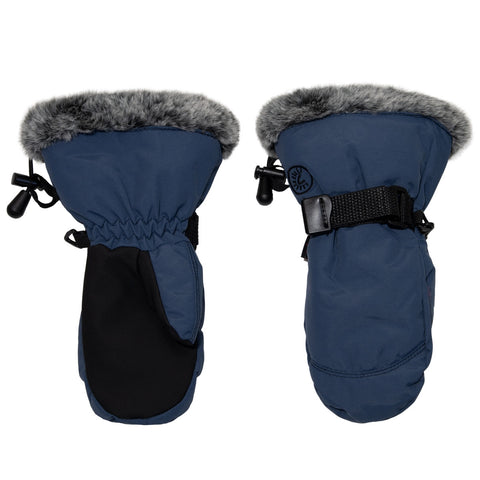 Calikids Waterproof Nylon Avaitor Mitten - Dark Denim