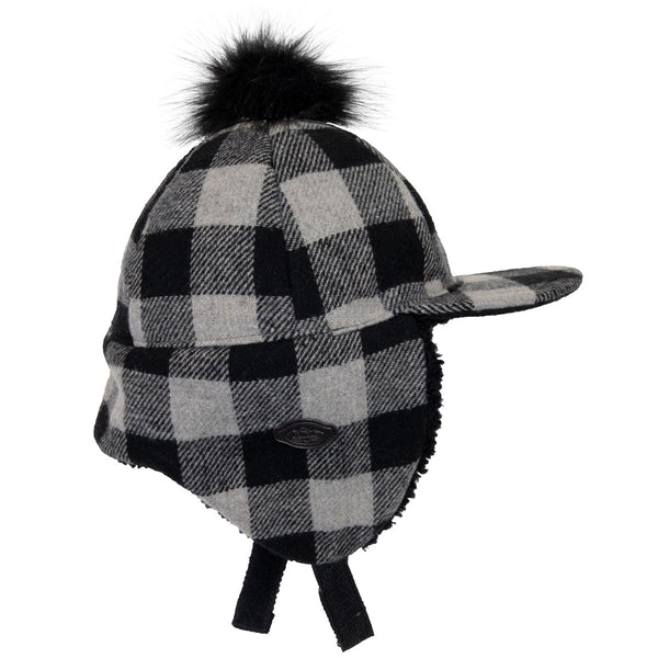 Calikids Plaid Hat - Grey Plaid