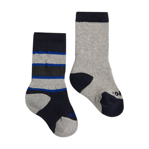 Kombi The Color Fan Baby Twin Pack Infant Sock - Black Iris