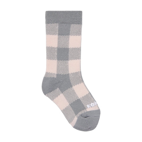 Kombi The Lodge Children Sock - Glass Pink Buffalo Plaid