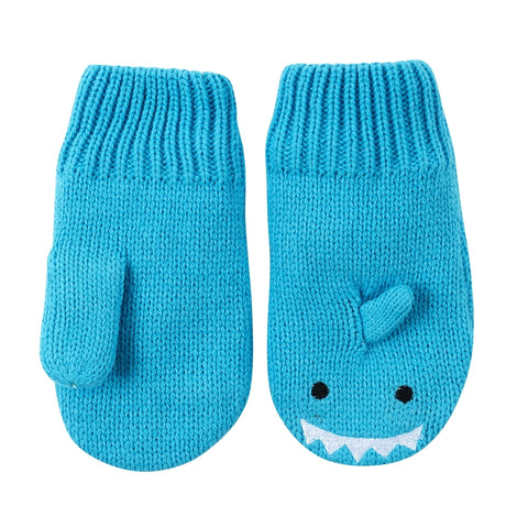 Zoocchini Baby Knit Mittens - Sherman the Shark
