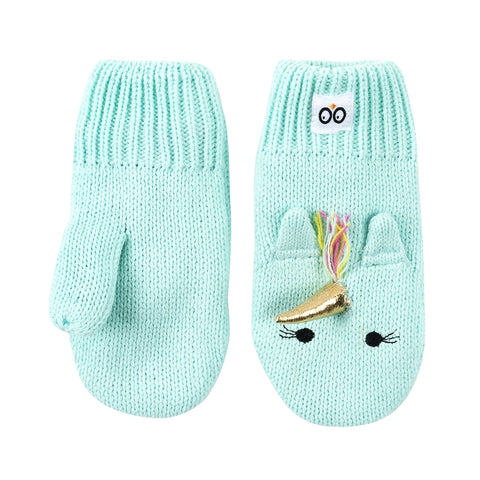 Zoocchini Baby Knit Mittens - Allie the Alicorn