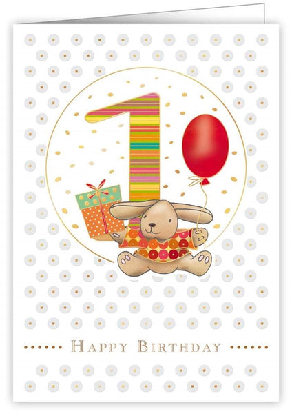 Quire Publishing Baby Birthday Card