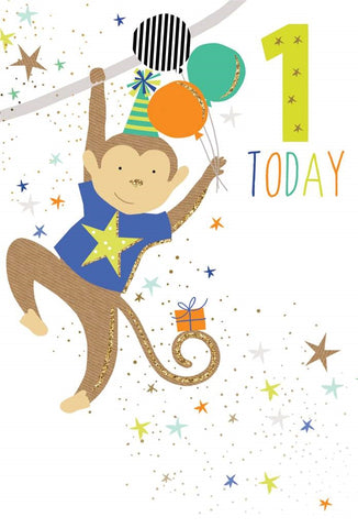 Pictura Baby Birthday Age 1 Card