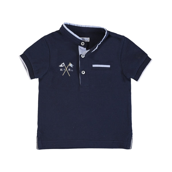 Mayoral S/S Polo Mock Neck - Navy (1144)