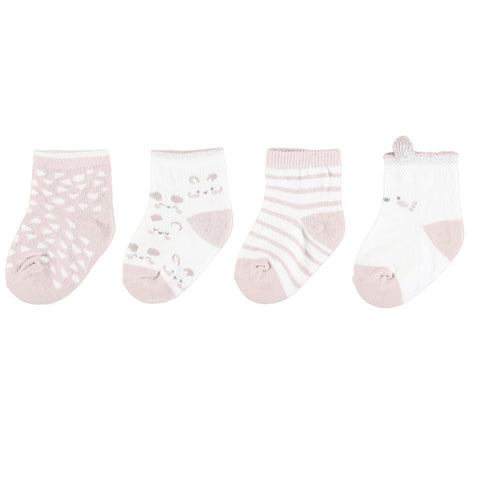 Mayoral 4pc Set Socks - Baby Rose