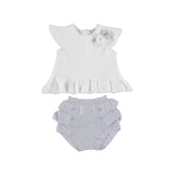 Mayoral Tricot Short Set - Shell Gray