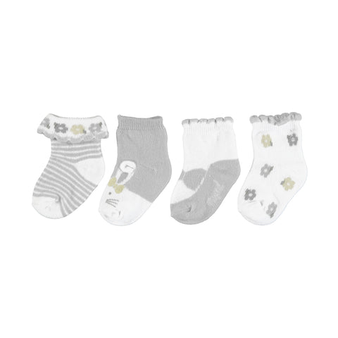 Mayoral 4pc set socks - Shell Gray