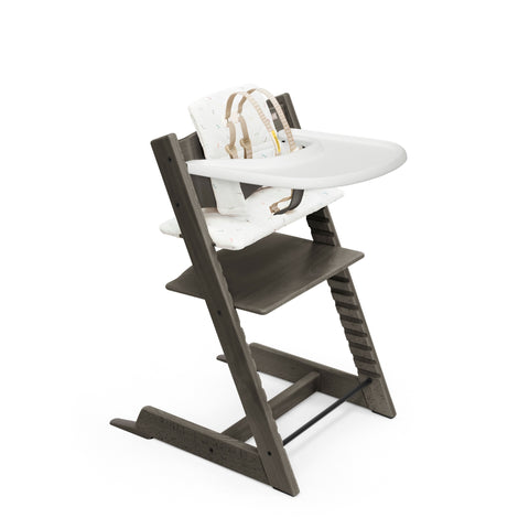 Stokke Tripp Trapp High Chair Complete, Hazy Grey w Icon Multi