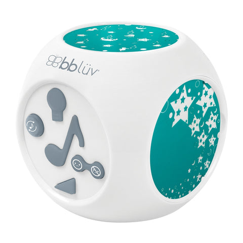 BBLUV Kube Sound Activated Musical Night Light with Projection