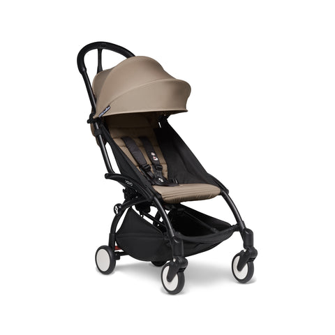 BabyZen YOYO2 Black Frame with 6+ Color Pack Stroller, Taupe