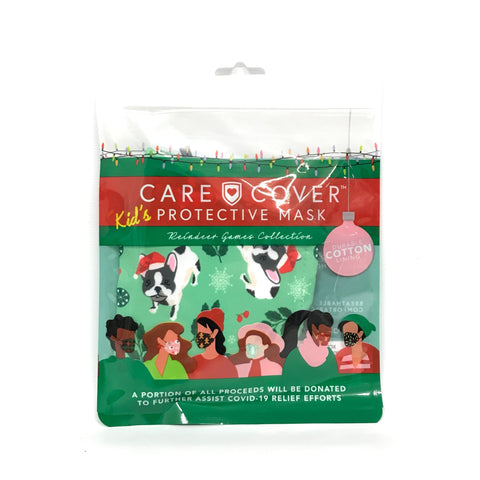 Care Cover Kids XMas Face Mask