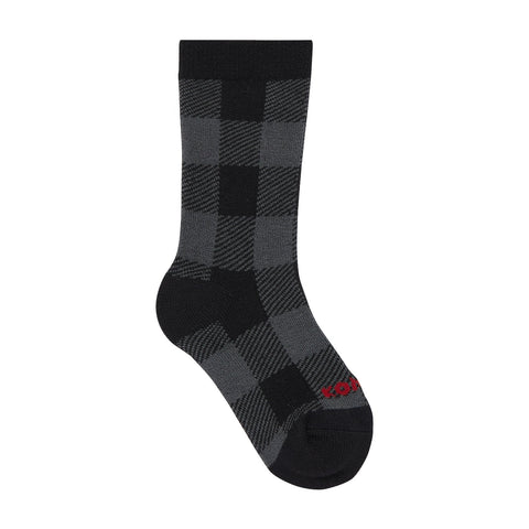 Kombi The Lodge Jr Sock - Grey Buffalo Plaid